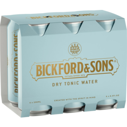 Photo of Bickfords & Sons Dry Tonic Water Cans 6x250ml