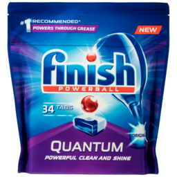 Photo of Finish Powerball Quantum Original Dishwasher Tablets 34 Pack
