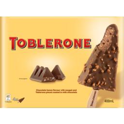 Photo of Toblerone Ice Cream Sticks 4 Pack 400ml