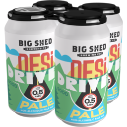 Photo of Big Shed Brewing Desi Driver Non Alcoholic Pale Ale Beer 4x375ml