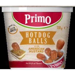 Photo of Primo Hotdog Balls With American Mustard 110g