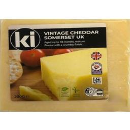 Photo of Ki Vintage Cheddar Somerset Uk Cheese Block 200g