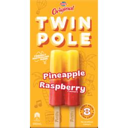 Photo of Peters Original Twin Pole Pineapple & Raspberry 8 Pack 590ml