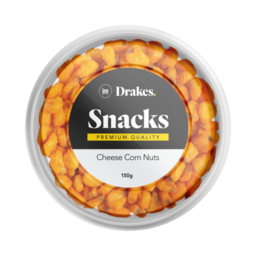 Photo of Drakes Snacks Cheese Corn Nuts Tub 150g