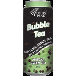 Photo of Lotus Peak Bubble Tea Matcha Green With Tapioca Pearls 490ml