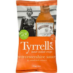 Photo of Tyrrells Worcestershire Sauce & Sun Dried Tomato Chips