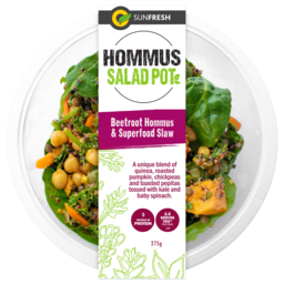Photo of Sunfresh Beetroot Hommus & Superfood Slaw Salad Pot 275g