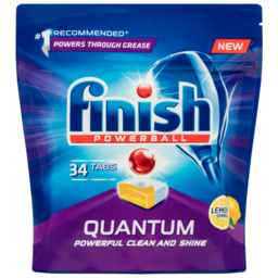 Photo of Finish Powerball Quantum Lemon Sparkle Dishwasher Tablets 34 Pack