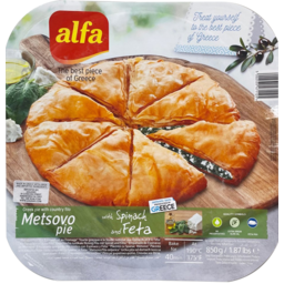 Photo of Alfa Spinach & Feta Metsovo Pie 850g