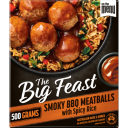 Photo of On The Menu The Big Feast Smoky BBQ Meatballs With Spicy Rice 500g