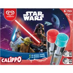 Photo of Streets Calippo Star Wars Ice Blocks 6 Pack 480ml