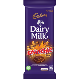 Photo of Cadbury Dairy Milk Crunchie Milk Chocolate Block 180g