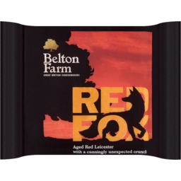 Photo of Belton Farm Red Fox Aged Red Leicester Cheese 200g