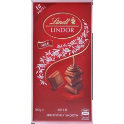 Photo of Lindt Lindor Milk Chocolate Block 100g