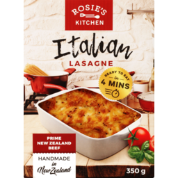 Photo of Rosie's Meal Italian Lasagne 350g