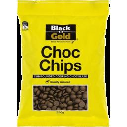 Photo of Black & Gold Choc Chip Bits 250g
