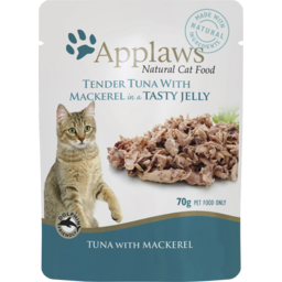 Photo of Applaws Cat Food Pouch Tuna Fillet With Mackerel In Jelly 70g