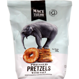 Photo of Macy & Tailor Pressed Pretzels with Salt 180g