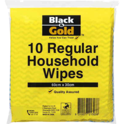 Photo of Black & Gold Regular Household Wipes 10's
