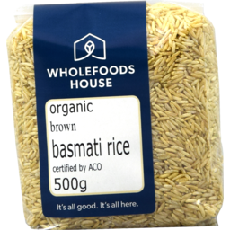 Photo of Wholefoods House Rice Basmati Brown 500g