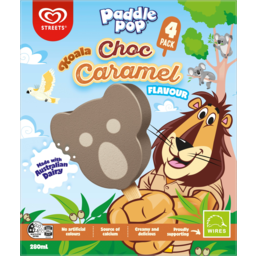 Photo of Streets Paddle Pop Koala Choc Caramel Flavour Ice Creams 4 Pack 280ml