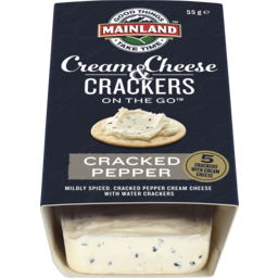 Photo of Mainland On The Go Cream & Cheese Crackers Cracked Pepper 55g