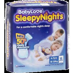 Photo of BABYLOVE SLEEPY NIGHTS 4-7RS  8