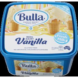 Photo of Bulla Ice Cream Vanilla 2lt