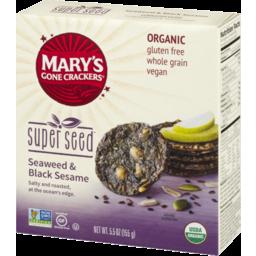 Photo of Mary's Gone Crackers Super Seed Crackers Seaweed & Black Sesame