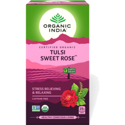 Photo of Organic India - Tulsi Sweet Rose - 25 Tea Bags