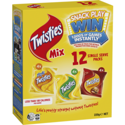 Photo of Twisties Mix 12 Pack 220g