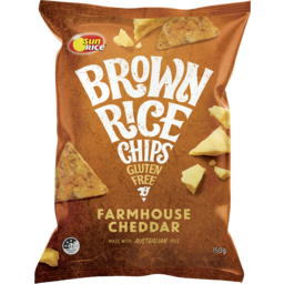 Photo of Sunrice Brown Rice Chips Farmhouse Cheddar 150g
