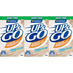 Photo of Up&Go Dairy Free Vanilla Ice 3x250ml