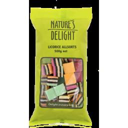 Photo of Nature's Delight Licorice Allsorts 500g