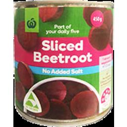 Photo of WW Beetroot Sliced No Added Salt 450g