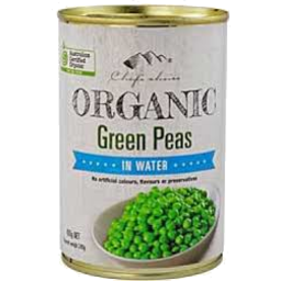 Photo of Chefs Choice Organics Green Peas 400g