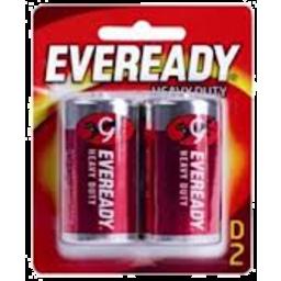 Photo of Eveready Red Heavy Duty D 1050 2pk