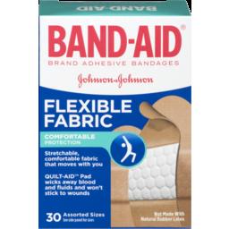 Photo of Band-Aid Adhesive Bandages Flexible Fabric Assorted - 30 Ct