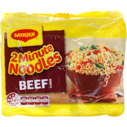 Photo of Maggi 2 Minute Noodles Beef Flavour 5 Pack