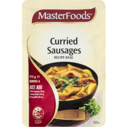 Photo of Masterfoods Curried Sausages Recipe Base Sauce Pouch 175g
