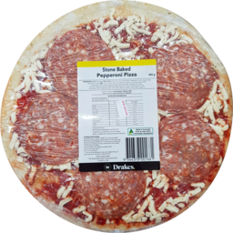 Photo of Drakes Stone Baked Pepperoni Pizza 400g