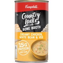 Photo of Campbells Country Ladle With Bone Broth Creamy Chicken White Bean & Veg Soup 505g