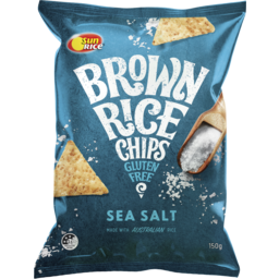 Photo of Sunrice Brown Rice Chips Sea Salt 150g