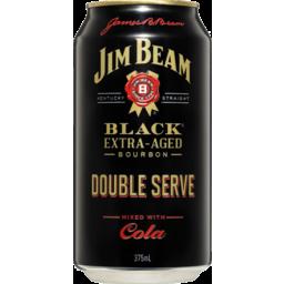 Photo of Jim Beam Black & Cola Double Serve 6.9% 375ml