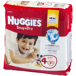 Photo of Huggies Snug & Dry Size 4 Diapers - 31 Ct