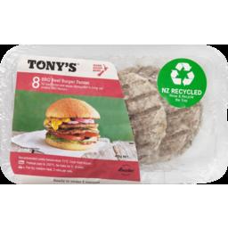 Photo of Tonys Burger BBQ Beef 8 Pack Frozen