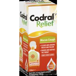Photo of Codral Relief Mucus Cough Liquid Honey Lemon Flavour 150ml