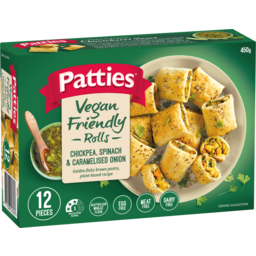 Photo of Patties Chickpea, Spinach & Caramelised Onion Rolls 12x450g