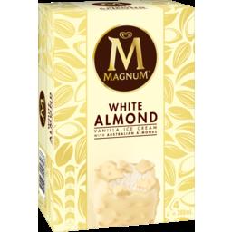 Photo of Magnum Ice Cream White Almond 4 X 97 Ml
