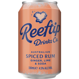Photo of Reeftip Spiced Rum Ginger Lime & Soda Can